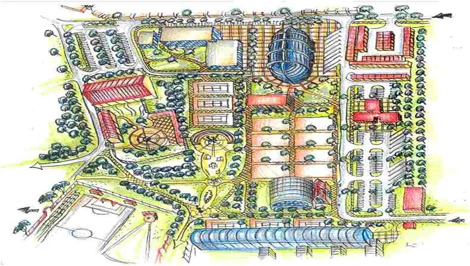 Architektonická studie areálu Červené domky
